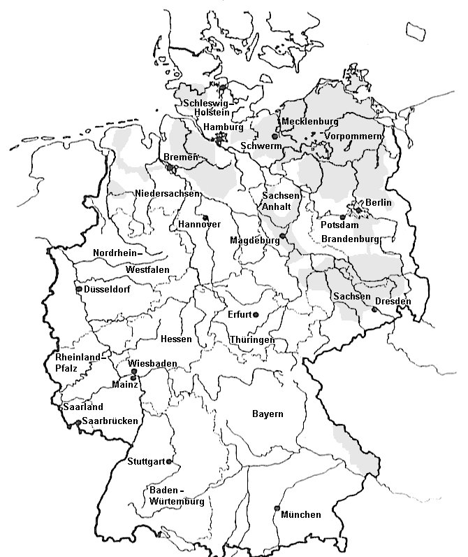 reuther c 1992 aktion fischotterschutz e v german c aign for Diagram of Man map of reunified germany showing otter populations concentrated in the north and east